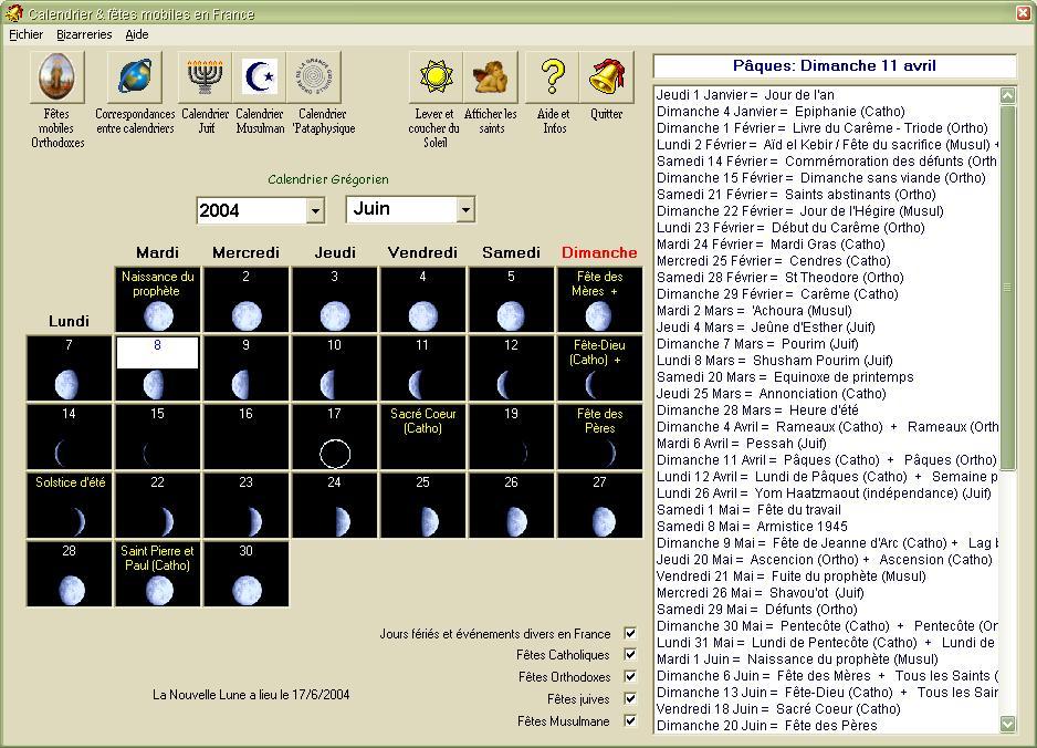calendrier lunaire 1981