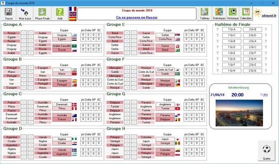 Coupe du monde 2018 - Tableau phase finale coupe du monde 2014 ...